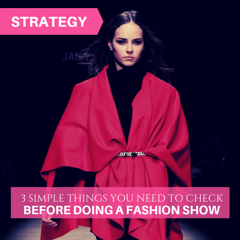 How To Plan A Fashion Show Checklist Archives Fashion Cross Functional